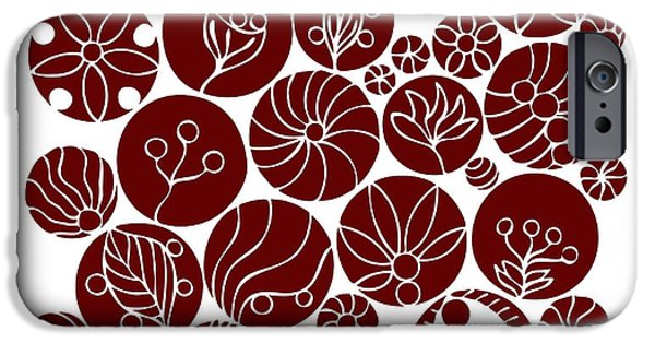 Organic Forms iPhone Cases - Red Abstract iPhone Case by Frank Tschakert