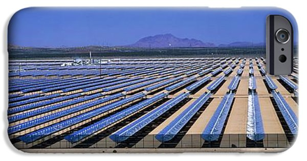 Electrical iPhone Cases - Solar Power Plant, California, Usa iPhone Case by David Nunuk