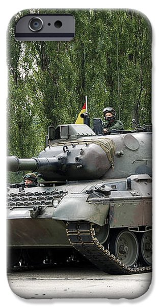 The Leopard 1a5 Of The Belgian Army iPhone Case by Luc De Jaeger