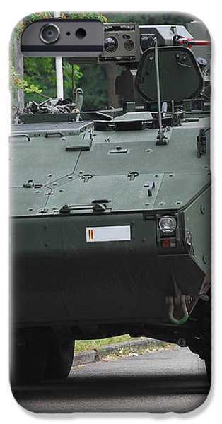 The Piranha Iiic Of The Belgian Army iPhone Case by Luc De Jaeger