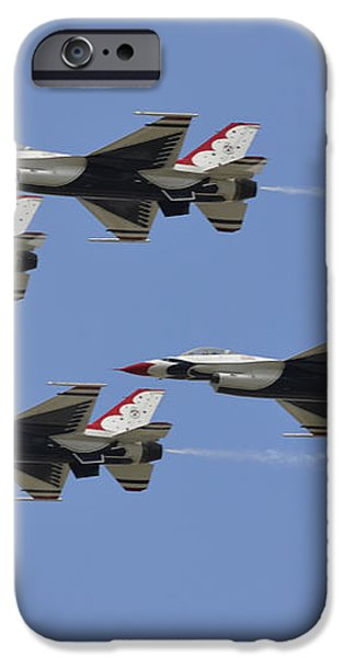 The U.s. Air Force Thunderbirds Fly iPhone Case by Stocktrek Images