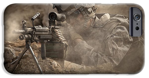 Best Sellers -  - Ledge iPhone Cases - U.s. Army Ranger In Afghanistan Combat iPhone Case by Tom Weber