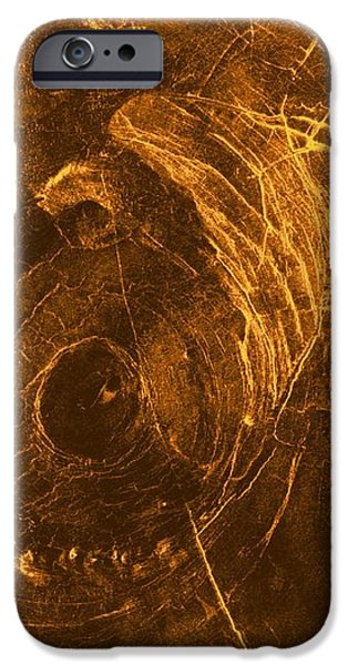Venus, Synthetic Aperture Radar Map iPhone Case by Detlev Van Ravenswaay