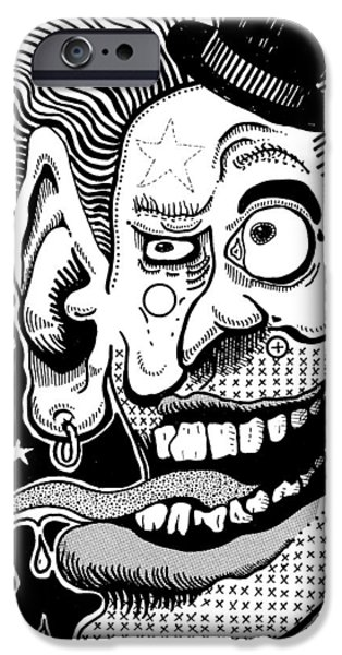 Eerie Drawings iPhone Cases - 714 iPhone Case by Ralf Schulze