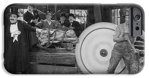 Circular Saw iPhone Cases - Silent Film Still iPhone Case by Granger