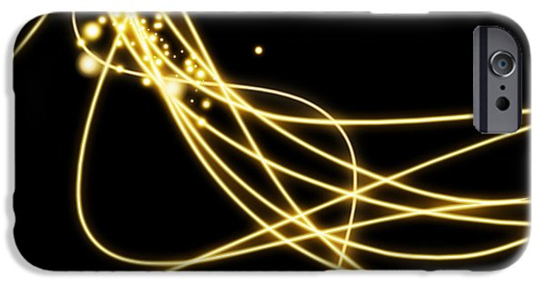 Technology iPhone Cases - Abstract Lighting Effect  iPhone Case by Setsiri Silapasuwanchai