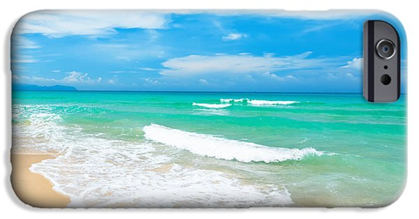 Landscape. Scenic iPhone Cases - Beach iPhone Case by MotHaiBaPhoto Prints