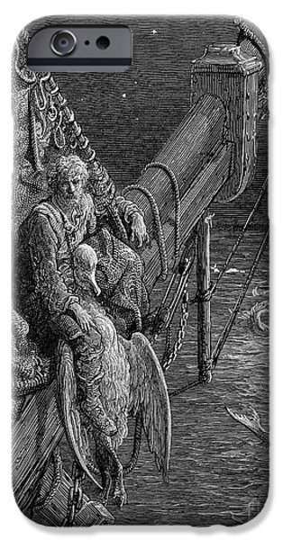 Serpent iPhone Cases - Coleridge: Ancient Mariner iPhone Case by Granger