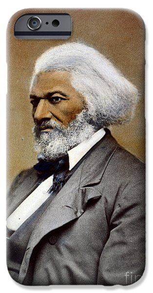 Abolition Movement iPhone Cases - Frederick Douglass iPhone Case by Granger