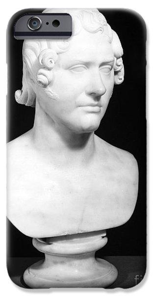 Statue Portrait iPhone Cases - George Gordon Byron (1788-1824) iPhone Case by Granger