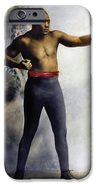 Boxer iPhone Cases - Jack Johnson (1878-1946) iPhone Case by Granger