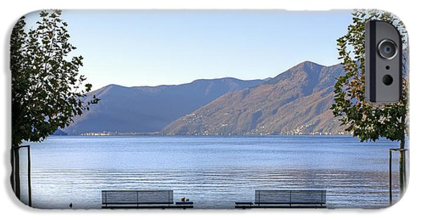 Planes Photographs iPhone Cases - Lake Maggiore iPhone Case by Joana Kruse