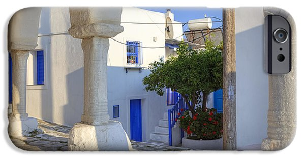 Alley iPhone Cases - Paros - Cyclades - Greece iPhone Case by Joana Kruse