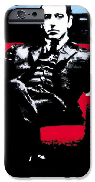 Al Pacino iPhone Cases - The Godfather iPhone Case by Luis Ludzska