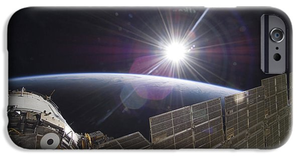 Orbital iPhone Cases - The International Space Station iPhone Case by Stocktrek Images
