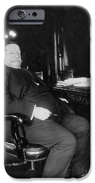The White House Photographs iPhone Cases - William Howard Taft iPhone Case by Granger