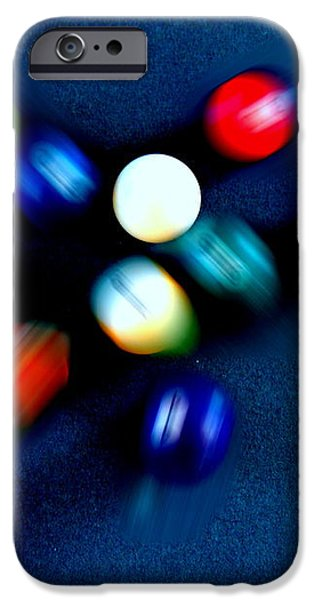 9 Ball Break iPhone Case by Nick Kloepping