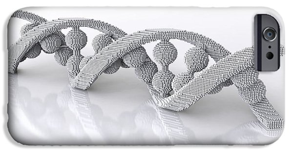 Genetic iPhone Cases - Dna Molecule, Artwork iPhone Case by David Mack