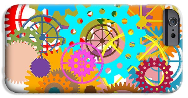 Components iPhone Cases - Gears Wheels Design  iPhone Case by Setsiri Silapasuwanchai
