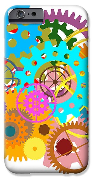 gears wheels design  iPhone Case by Setsiri Silapasuwanchai