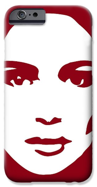 Monochrome Drawings iPhone Cases - Illustration of a woman in fashion iPhone Case by Frank Tschakert