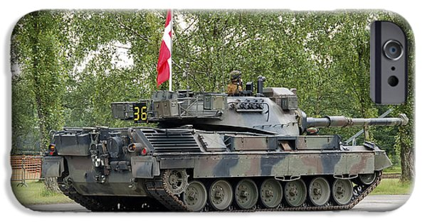 Components iPhone Cases - The Leopard 1a5 Of The Belgian Army iPhone Case by Luc De Jaeger