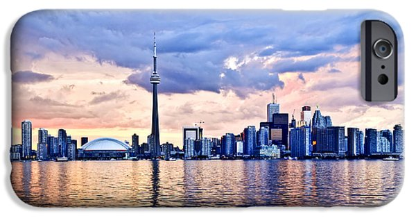Business Photographs iPhone Cases - Toronto skyline iPhone Case by Elena Elisseeva
