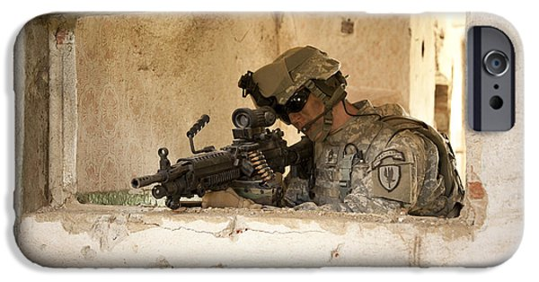 Fed iPhone Cases - U.s. Army Ranger In Afghanistan Combat iPhone Case by Tom Weber