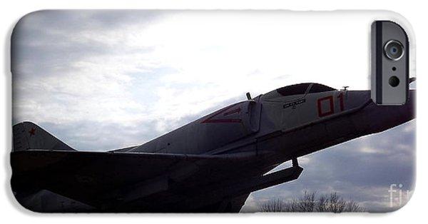 Vetran iPhone Cases - A-4E Skyhawk plane iPhone Case by Rose Santuci-Sofranko