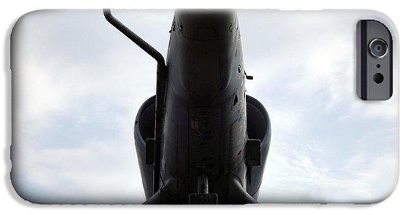 Vetran iPhone Cases - A-4E Skyhawk plane underside iPhone Case by Rose Santuci-Sofranko