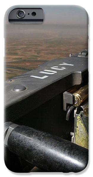 A .50 Caliber Machine Gun Points iPhone Case by Stocktrek Images