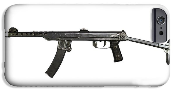 Copy Machine iPhone Cases - A 7.62mm Type 54 Machine Gun, A Variant iPhone Case by Andrew Chittock