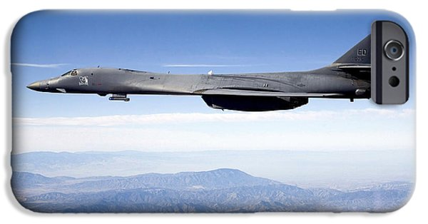 Technology iPhone Cases - A B-1b Lancer Carries The Sniper Pod iPhone Case by Stocktrek Images