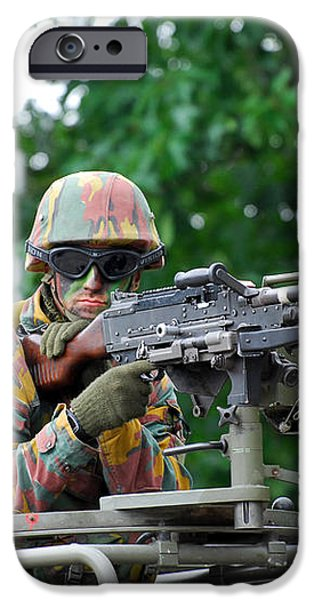 A Belgian Army Soldier Handling iPhone Case by Luc De Jaeger