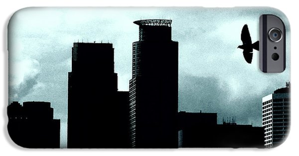 City Scape iPhone Cases - A Birds View of Minneapolis iPhone Case by Susan Stone