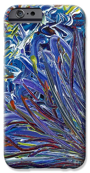 Breathing Paintings iPhone Cases - A Breath of Air Escaping iPhone Case by Gwyn Newcombe