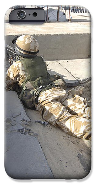 A British Soldier Provides Security iPhone Case by Andrew Chittock