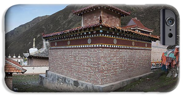 Tibetan Buddhism iPhone Cases - A Buddhist Temple Near Xeushan Township iPhone Case by Phil Borges