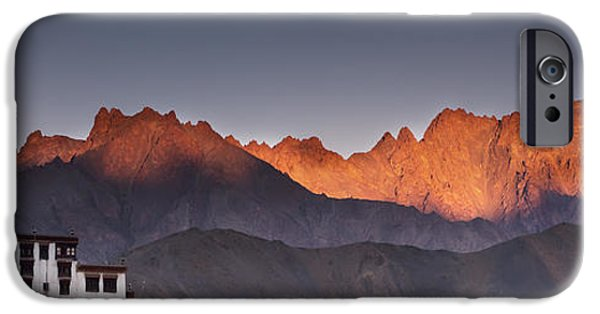 Ledge iPhone Cases - A Building On A Rock Ledge With iPhone Case by David DuChemin