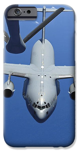 A C-17 Globemaster Iii Approaches iPhone Case by Stocktrek Images
