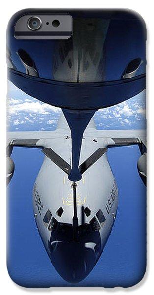 A C-17 Globemaster Iii Receives Fuel iPhone Case by Stocktrek Images