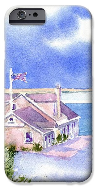 Chatham Paintings iPhone Cases - A Chatham Fish Market iPhone Case by Joseph Gallant