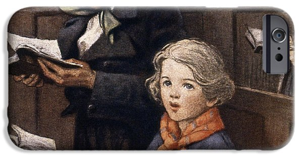 Tim Paintings iPhone Cases - A Christmas Carol iPhone Case by Granger