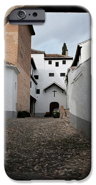 Historic Site iPhone Cases - A Church in There iPhone Case by Lorraine Devon Wilke