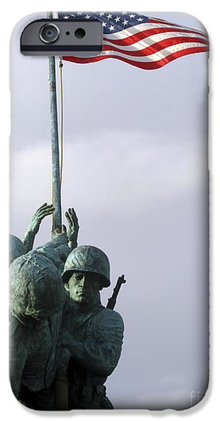 A Close Up Of The Iwo Jima Bronze iPhone Case by Michael Wood