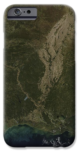 A Cloud-free View Of The Southern iPhone Case by Stocktrek Images