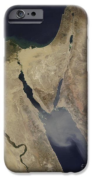 A Cloud Of Tan Dust From Saudi Arabia iPhone Case by Stocktrek Images