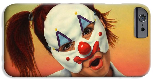 Sunset iPhone Cases - A clown in my backyard iPhone Case by James W Johnson