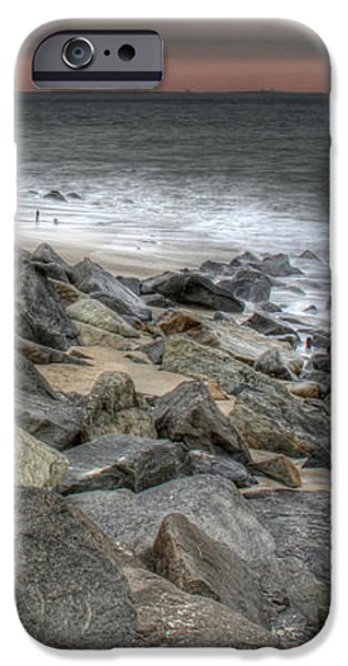 A Cold Day on a December Beach iPhone Case by Lee Dos Santos
