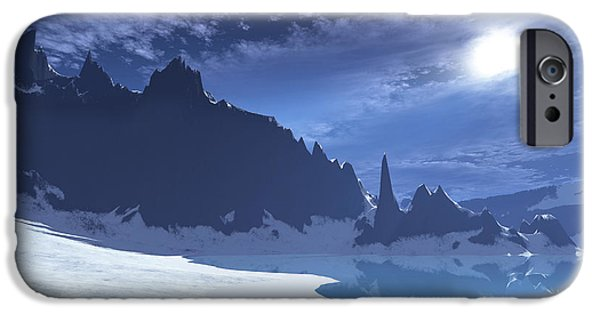 Sea Moon Full Moon iPhone Cases - A Cold Winter Night On This Beach iPhone Case by Corey Ford